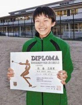 陸上 100メートル12秒5台へ頑張る 江差中1年の佐藤志保里さん