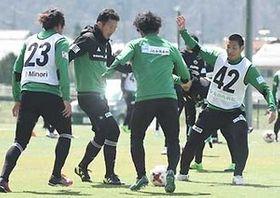 J2松本 勝利へ精度追求 22日敵地で京都戦