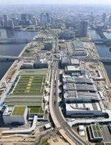 東京都江東区の豊洲市場(2016年7月撮影)