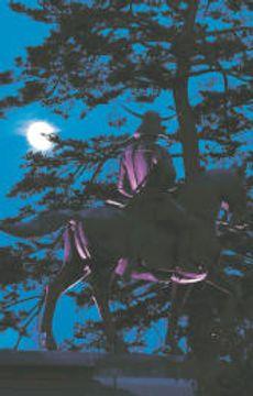 伊達政宗騎馬像の前に、くっきりと浮かんだ中秋の名月=4日午後5時30分ごろ、仙台市青葉区