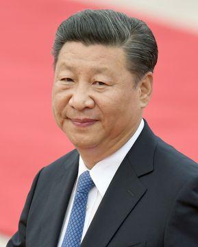 中国の習近平国家主席=1日、北京の人民大会堂(共同)